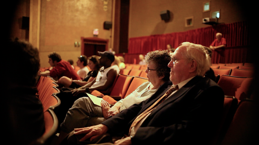 Reg and Barbara Clark, owners of the Palace Theatre